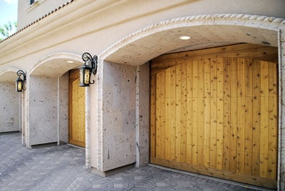 custom home garage door installation